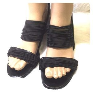 Multiple Strap Wedge Sandals